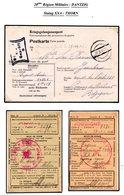 Kriegsgefangenenpost Prisonnier Guerre 40/45 Stalag XX A Thorn Torun Vers Belgique Reçus De Colis CROIX-ROUGE + Censure - WW II