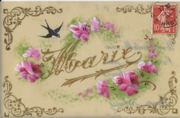 MARIE  Carte Celluloide  1904 - Prénoms