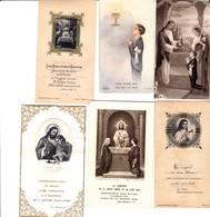 NOGENT LE ROTROU LOT DE 10 IMAGES PIEUSES SOUVENIR DE COMMUNION AVEC NOM DES COMMUNIANTS AU DOS ANNEE 1930 40 - Devotion Images