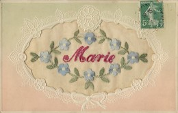 MARIE  Carte Brodée 1908 - Prénoms