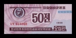 Corea Korea 50 Chon 1988 Pick 26(2) Red Serial SC UNC - Corea Del Nord