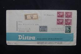 BOHÈME ET MORAVIE - Enveloppe De Praha En Recommandé En 1942 Pour La Suisse Avec Contrôle Postal  - L 53105 - Lettres & Documents