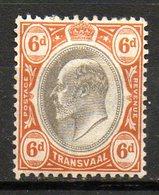 TRANSVAAL - (Administration Britannique) - 1902-03 - N° 154 - 6 P. Orange Et Gris - (Edouard VII) - Südafrika (...-1961)