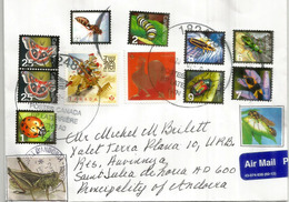 CANADA, Insectes Du Canada, Sur Lettre 2020, Adressée Andorra,avec Timbre à Date Arrivée - Otros