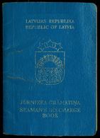LATVIA SEAMAN's DISCHARGE BOOK SAILOR TRAVEL PASSPORT EXPIRED AND OBSOLETE 1994 SAILOR MARITIME PASS REISEPASS PASSEPORT - Historical Documents