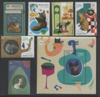 PETS ,2014, MNH, CATS, FISH, BIRDS,   6v+S/SHEET - Domestic Cats