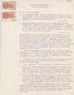 Convention (Acte De Commerce) Entre Brasserie Amos Et Café à Etain Le 5/3/58, TP Fiscaux N° 287 X 2 - Fiscales