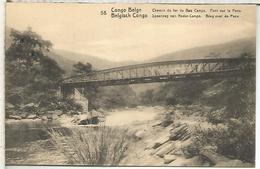 CONGO BELGA ENTERO POSTAL PUENTE FERROCARRIL RAILWAY BRIDGE - Brücken