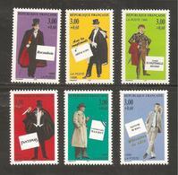 France, 3025/3030, Neuf **, TTB, Personnages, Roman Policier, Rocambole, Lupin, Rouletabille, Fantômas, Maigret, Burma - Nuovi