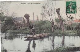 80.  AMIENS. CPA COLORISÉE. LES HORTILLONNAGES. ANNEE 1912 - Amiens