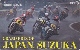 TC JAPON / NTT 290-143 - Course MOTO TBE - MOTOR BIKE Racing SUZUKA - JAPAN Phonecard - Motorräder