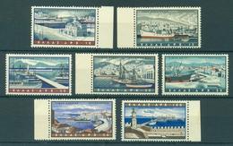 GREECE * 1958 * Complete Set 7 Stamps * MNH** Greek Harbours - Mi.No 674-680 - Nuovi