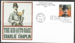 US  1998  Sc#3183a Celebrate The Century Charlie Chaplin 1914 On Mystic FDC - 1991-2000