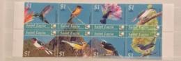 St. Lucia 2004 Birds Of The Caribbean Sheet Set MNH - St.Lucia (1979-...)