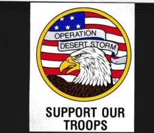 Label Support Our Troops - Operation Desert Storm In Iraq (G109-23) - Militaria