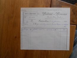 FACTURE AVON FONTAINEBLEAU POITRAT PERREAU A FONTAINEBLEAU ET AVON 4 RUE DE LA HAUTE BERCELLE 1899 - France