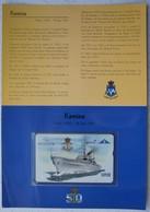 Telecarte Belgacom Zeemacht Force Navale Belge ABL CARGO Transport KAMINA AP907 Marine - Télécartes