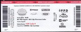 Croatia Zagreb 2019 / Arena / Handball / PPD Zagreb - RK Celje Pivovarna Lasko / Ticket - Tickets & Toegangskaarten