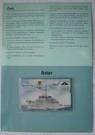 Telecarte Belgacom Zeemacht Force Navale Belge ABL Chasseur De Mines ASTER M915 Marine - Télécartes