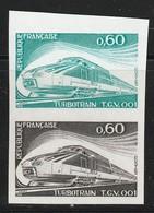 FRANCE - ESSAI DE COULEUR - N°1802 ** X2 (1974)  TGV 001 - Essais