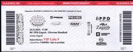 Croatia Zagreb 2019 / Arena / Handball / PPD Zagreb - Elverum Handball / Ticket - Tickets & Toegangskaarten
