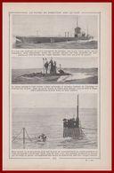 La Vie A Bord Des Sous-marins. Sous-marin. Marine Militaire. Récit Du Début Du XXe Siècle. - Documents Historiques