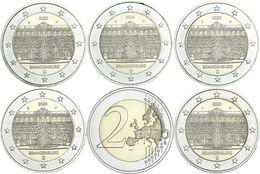 Allemagne 2020 : 2€ Commémorative 'Brandenburg - Palais De Sanssouci' (lot Des 5 Ateliers A/D/F/G/J En UNC) - Allemagne