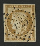 10c CERES (n°1) Obl. Cote 355€. Signé SCHELLER. Superbe. - Francia