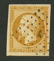 10c PRESIDENCE (n°9) TTB Margé Obl. Cote 850€. Signé SCHELLER & CALVES. PIECE Superbe. - Francia