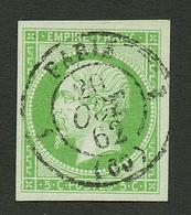 5c Empire (n°12) Oblitération Centrale PARIS. Signé SCHELLER. Superbe. - Francia