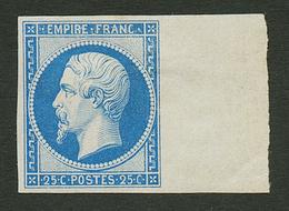 25c EMPIRE (n°15c) REIMPRESSION De 1862 Neuf * Bord De Feuille. Cote 600€. Signé MENOZZI. TTB. - Francia