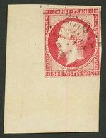 80c (n°17) Enorme Coin De Feuille Obl. PC 3610. Filet Effleuré En 1 Point En Bas à Droite. Signé ROUMET. Superbe. - Francia