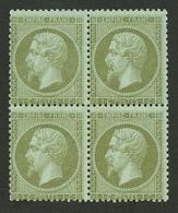 1c EMPIRE (n°19) Bloc De 4 Neuf ** (1 Ex. *). Cote 1100€. TTB. - Francia