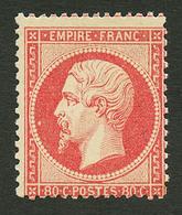 80c Empire (n°24) Neuf **. Cote 2300€++. Signé BRUN. TB. - Francia