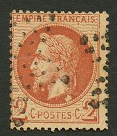 """2c (n°26d) Variété """"double BOULES Sous LE COU"""" Obl. RARE. Cote 1600€. Certificat ROBINEAU (2007). Superbe. - Francia"""