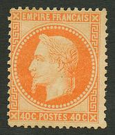 40c Lauré (n°31) Neuf *. Cote 1900€. Signé SCHELLER. TB. - Francia