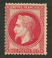 80c Lauré (n°32) Neuf *. Cote 1750€. Signé BRUN. TB. - Francia