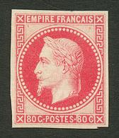 80c Lauré (n°32b) NON DENTELE Impression Fine ROTHSCHILD Neuf *. Certificat BEHR. TTB. - Francia