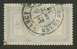 5F EMPIRE (n°33) Obl. T.17 NANCY. Signé CALVES & ROUMET. Certificat MAIER. TB. - Francia