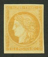 10c SIEGE REIMPRESSION GRANET (n°R36) Neuf *. Cote CERES 450€. Certificat ROBINEAU (2003). Rare. TB. - Francia