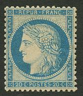20c SIEGE (n°37b) Papier Jaunâtre Tirage Dit De La Commune Neuf **. Cote 650€++. Certificat P. FOURNIER. TB. - Francia
