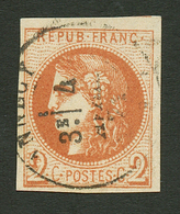 2c BORDEAUX (n°40) Obl. T.17 NANCY. Signé BRUN. TTB. - Francia