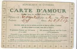Cpa Carte D'amour Republique De Cythére - Fantaisies