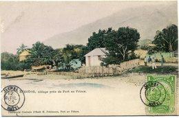 HAITI CARTE POSTALE -BIZOTON VILLAGE PRES DE PORT AU PRINCE DEPART JACMEL 12 AVRIL 03 HAITI POUR LA FRANCE - Haití