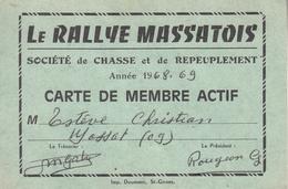 """MASSAT  """" LE RALLYE  MASSATOIS """" Société De Chasse Et De Repeuplement  Année 1968/69 - France"""