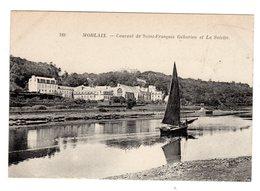 CPA Morlaix Finistère 29 Voilier Devant Couvent De Saint François Géburien Et La Salette éditeur ND N°189 - Morlaix