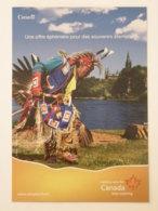 INDIEN / Canada - Carte Publicitaire Terre Canada - Native Americans