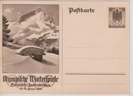 225PR/ Deutsches Reich Ganz.Pk Olympische Winterspiele 6-16 Februar 1936 MINT - Winter 1936: Garmisch-Partenkirchen