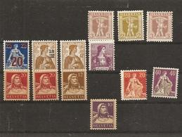 Schweiz, 1907 Diverse Ausgaben Alle **,  Siehe Scan! - Suisse