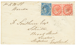"""""""NEW SOUTH WALES / VICTORIA Combination"""" : 1873 NSW 1d (x2) +VICTORIA 6d Canc. 398 On Envelope To ENGLAND. Verso, DENILI - Australie"""